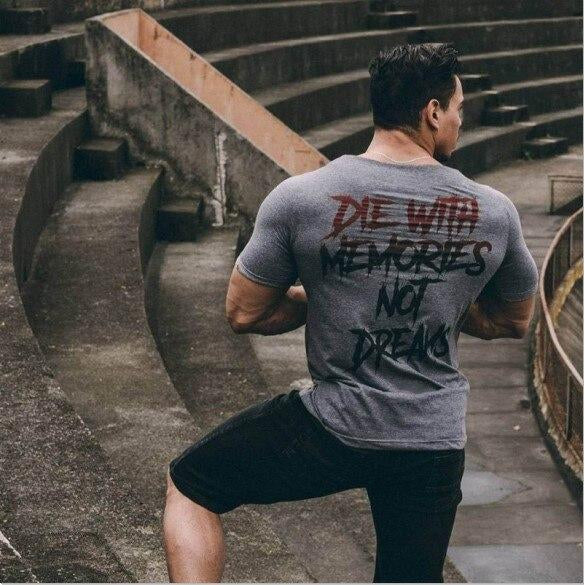 Die with Memories not Dreams - Rave On!® Premium Shirt Herren Premium Shirt - Rave On!® der Club & Techno Szene Shop für Coole Junge Mode Streetwear Style & Fashion Outfits + Sexy Festival 420 Stuff