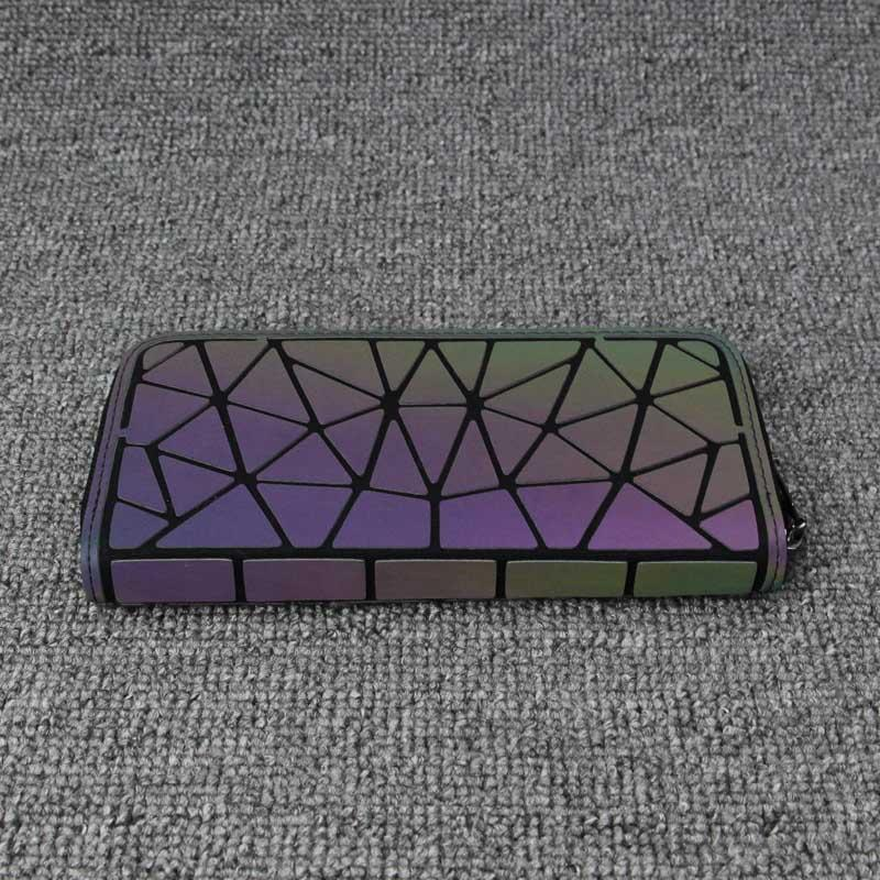 Holographisch leuchtendes Long Wallet - geometric Luminous