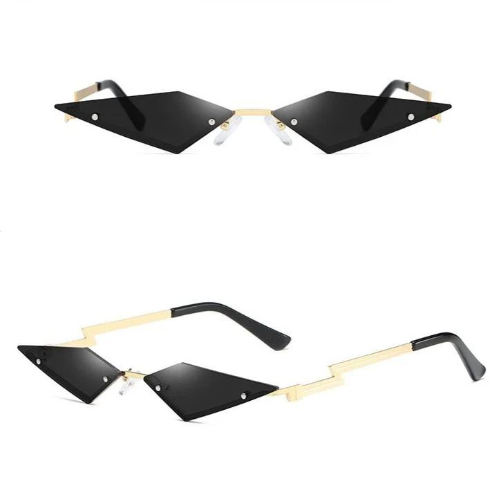 Randlose Retro Vintage Cat Eye Sonnenbrille