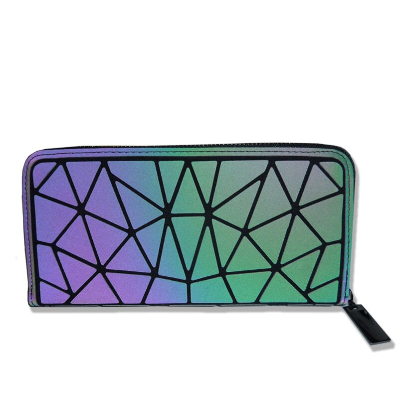 Holographic Luminous Long Wallet - geometric Luminous LUMI Luminous A - Rave On!® the club & techno scene shop for cool young fashion streetwear style & fashion outfits + sexy festival 420 stuff