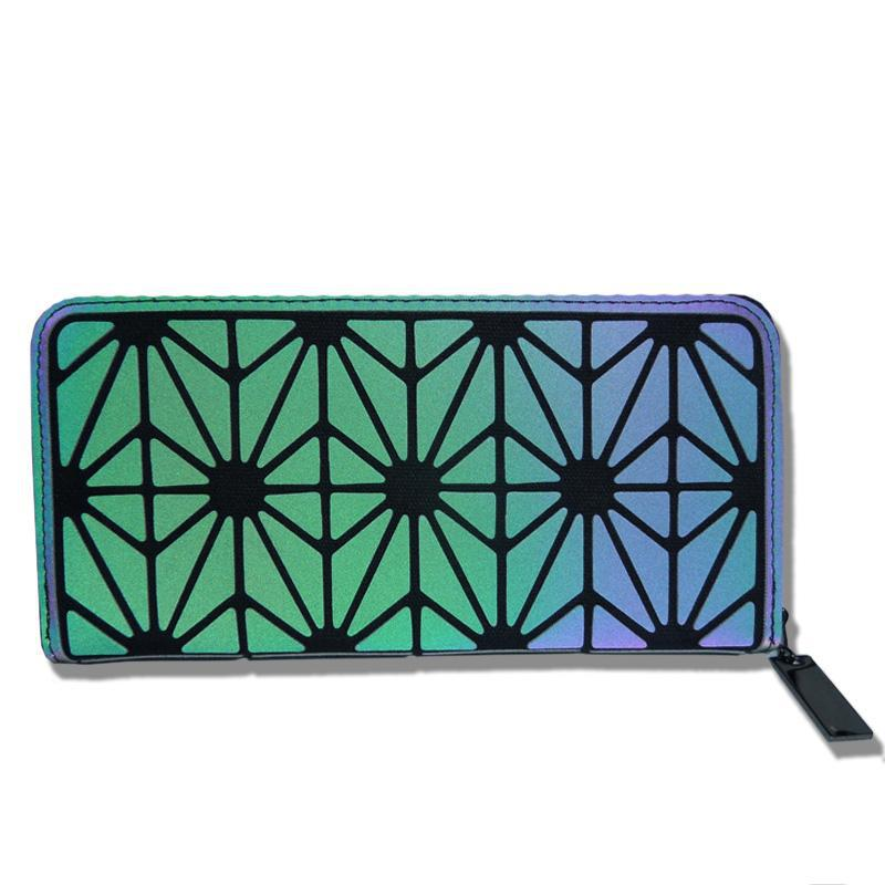 Holographic Luminous Long Wallet - geometric Luminous LUMI Luminous B - Rave On!® the club & techno scene shop for cool young fashion streetwear style & fashion outfits + sexy festival 420 stuff