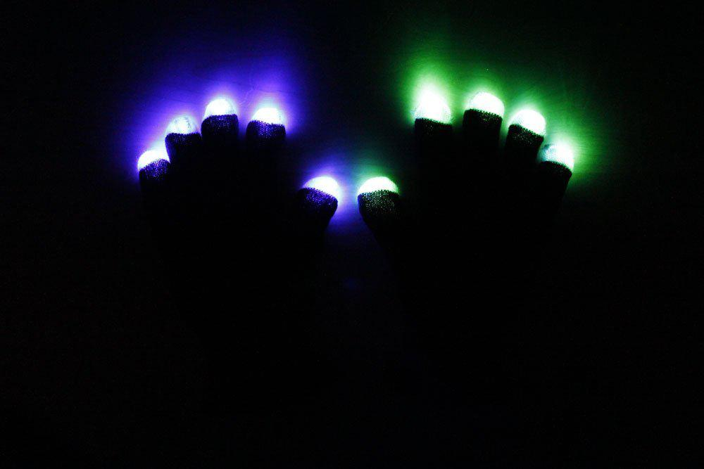 LED Raver Handschuhe in Schwarz LED-Gadgets - Rave On!® der Club & Techno Szene Shop für Coole Junge Mode Streetwear Style & Fashion Outfits + Sexy Festival 420 Stuff