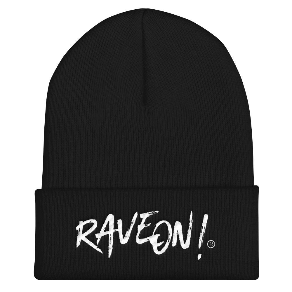 Rave On!® Beanie Mütze Black Mütze mit Stickerei - Rave On!® der Club & Techno Szene Shop für Coole Junge Mode Streetwear Style & Fashion Outfits + Sexy Festival 420 Stuff
