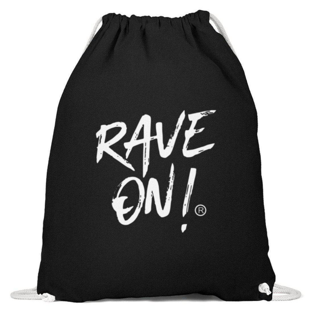 RAVE ON!® Black Collection - Baumwoll Gymsac Baumwoll Gymsac Schwarz - Rave On!® der Club & Techno Szene Shop für Coole Junge Mode Streetwear Style & Fashion Outfits + Sexy Festival 420 Stuff