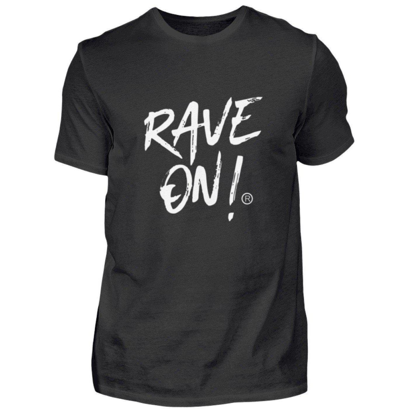 RAVE ON!® Black Collection - Men's Shirt Men's Basic T-Shirt Black / S - Rave On!® the club & techno scene shop for cool young fashion streetwear style & fashion outfits + sexy festival 420 stuff