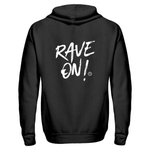 RAVE ON!® Black Collection - Zip-Hoodie-ZipperB-Schwarz-S-Rave-On! I www.rave-on.shop I Deine Rave & Techno Szene Shop I apparel, brand, i heart raves, marke, Merch, Merchandise, on, on!®, rave, rave apparel, rave clothes, rave clothing, rave fashion, rave gear, Rave on, Rave On!®, rave shop, rave wear, raver, techno apparel, ® - Sexy Festival Streetwear , Clubwear & Raver Style