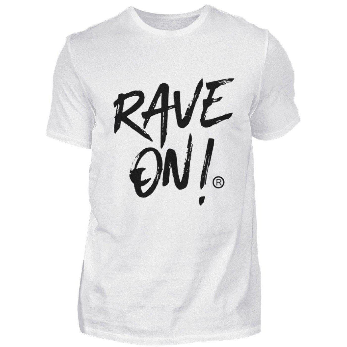 RAVE ON!® Light Collection - Herren Shirt Herren Basic T-Shirt S - Rave On!® der Club & Techno Szene Shop für Coole Junge Mode Streetwear Style & Fashion Outfits + Sexy Festival 420 Stuff