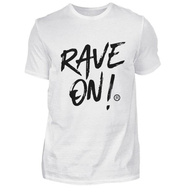 RAVE ON!® Light Collection - Herren Shirt Herren Basic T-Shirt - Rave On!® der Club & Techno Szene Shop für Coole Junge Mode Streetwear Style & Fashion Outfits + Sexy Festival 420 Stuff