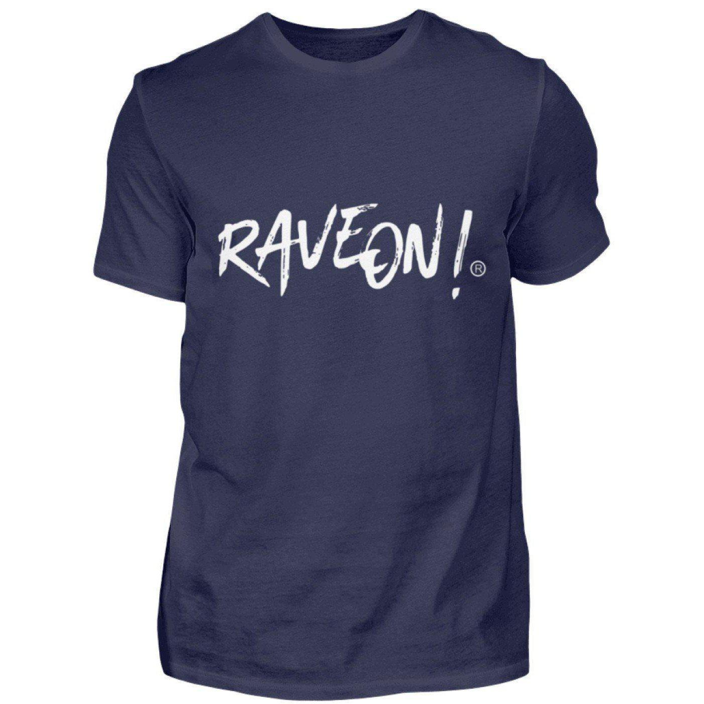Rave On!® Side Black Collection - Herren Shirt Herren Basic T-Shirt Dunkel-Blau / S - Rave On!® der Club & Techno Szene Shop für Coole Junge Mode Streetwear Style & Fashion Outfits + Sexy Festival 420 Stuff