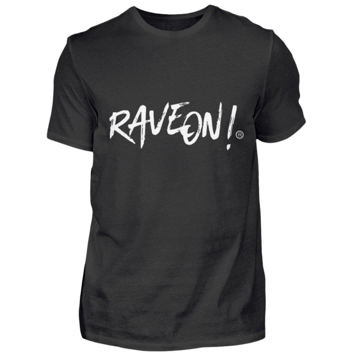 Rave On!® Side Black Collection - Herren Shirt Herren Basic T-Shirt Schwarz / S - Rave On!® der Club & Techno Szene Shop für Coole Junge Mode Streetwear Style & Fashion Outfits + Sexy Festival 420 Stuff