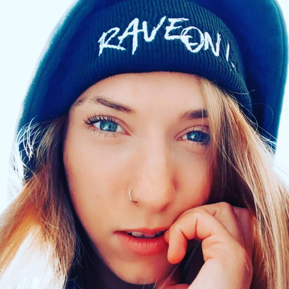 Rave On!® Beanie hat Black hat with embroidery - Rave On!® the club & techno scene shop for cool young fashion streetwear style & fashion outfits + sexy festival 420 stuff