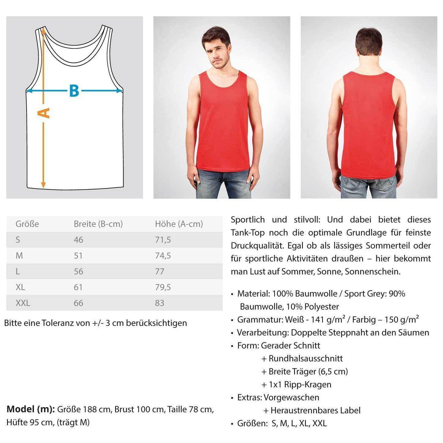 "Raver ""Feder"" Rave On!® - Herren Tanktop Herren Tank-Top - Rave On!® der Club & Techno Szene Shop für Coole Junge Mode Streetwear Style & Fashion Outfits + Sexy Festival 420 Stuff"