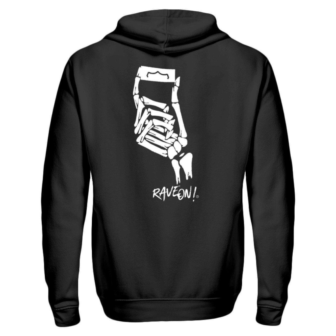 Skullblade - Rave On!® - Zip-Hoodie ZipperB S - Rave On!® the club & techno scene shop for cool young fashion streetwear style & fashion outfits + sexy festival 420 stuff