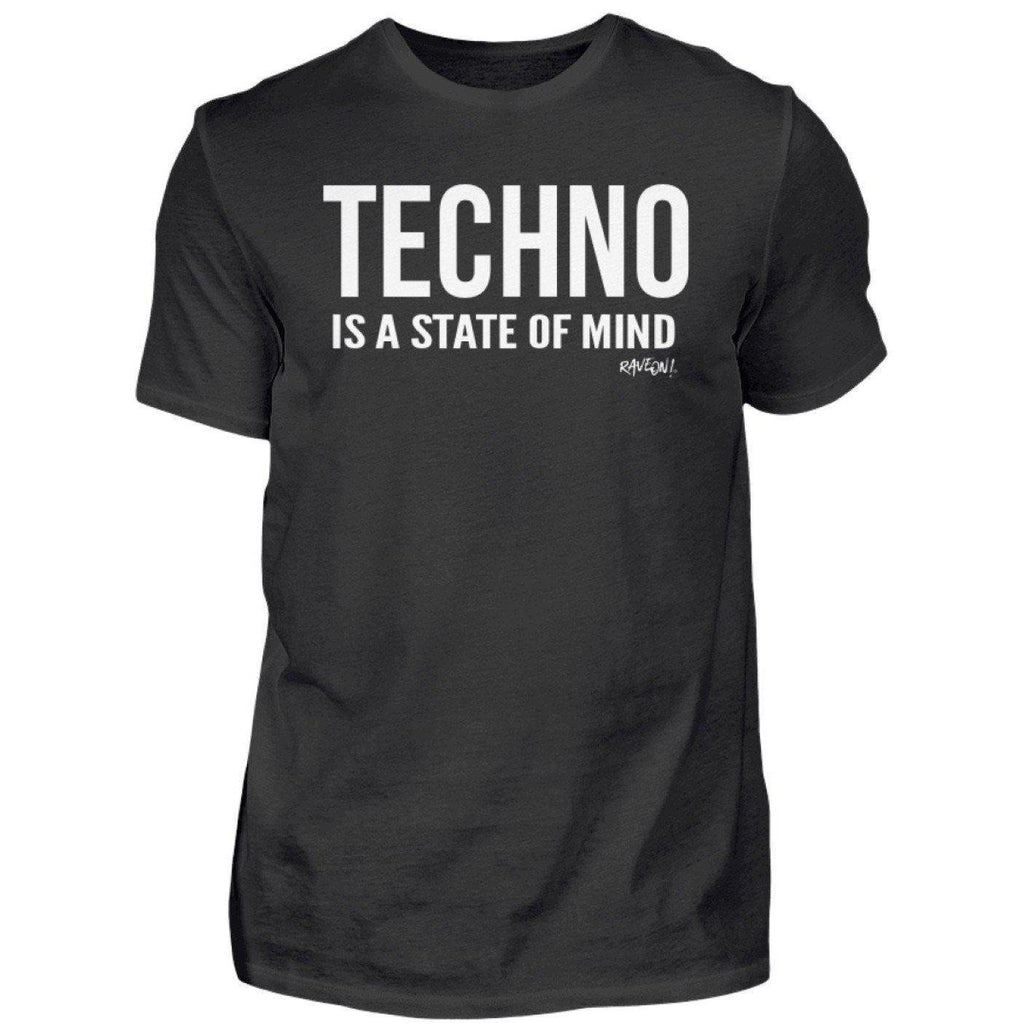 TECHNO IS A STATE OF MIND - Rave On!® - Herren Shirt-Herren Basic T-Shirt-Black-S-Rave-On! I www.rave-on.shop I Deine Rave & Techno Szene Shop I apparel, damen, frauen, girls, i heart raves, ladies, mind, oberteil, on!®, rave, rave apparel, rave clothes, rave clothing, rave fashion, rave gear, Rave on, Rave on!®, rave shop, rave t shirt, rave wear, raver, Shirt, state, t-shirt, techno, techno apparel, tshirt, women, ® - Sexy Festival Streetwear , Clubwear & Raver Style