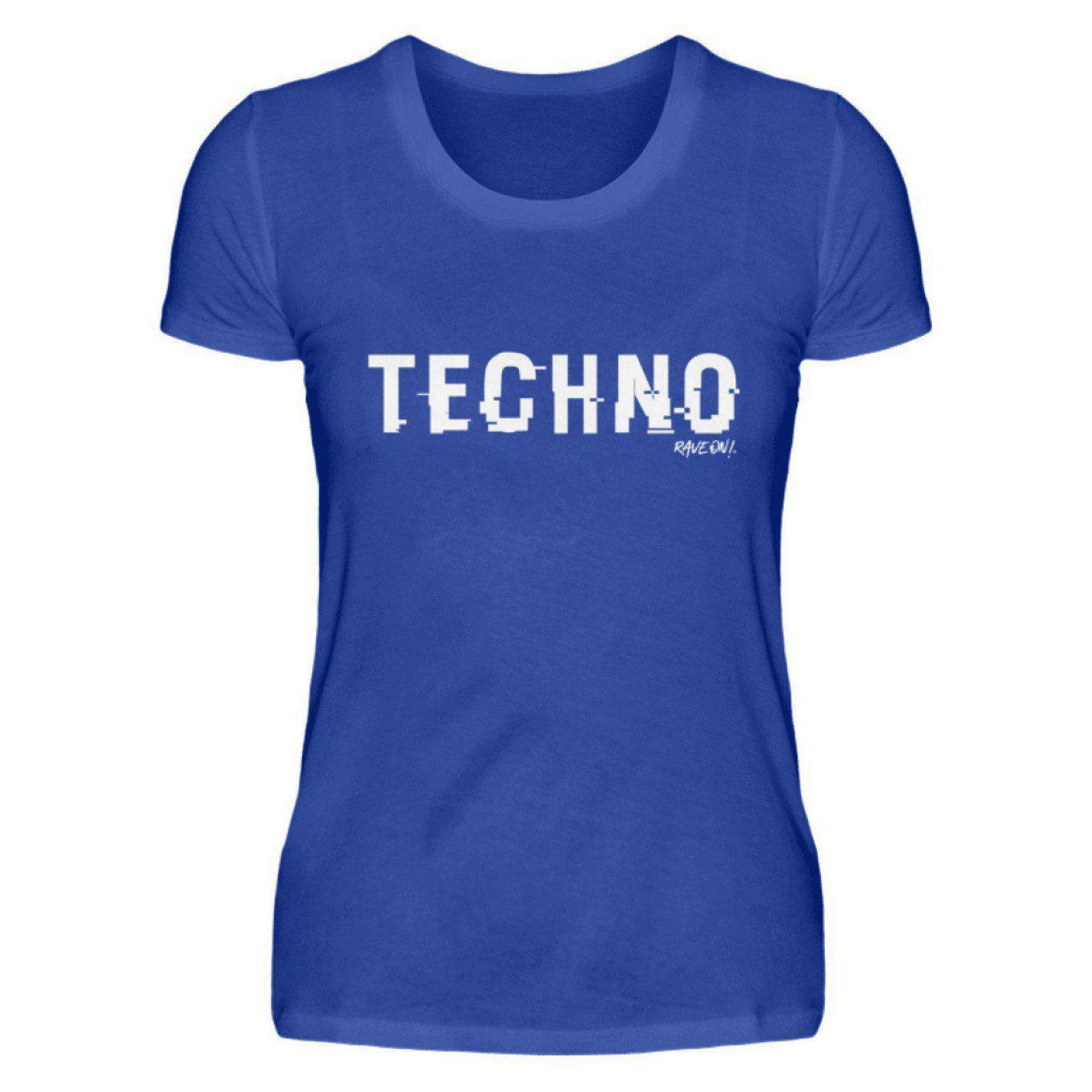 TECHNO shifted Rave On!® - Ladies Shirt Ladies Basic T-Shirt Neon Blue / S / Ladies Shirt - Rave On!® the club & techno scene shop for cool young fashion streetwear style & fashion outfits + sexy festival 420 stuff