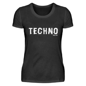 TECHNO shifted Rave On!® - Damenshirt-Damen Basic T-Shirt-Rave-On!