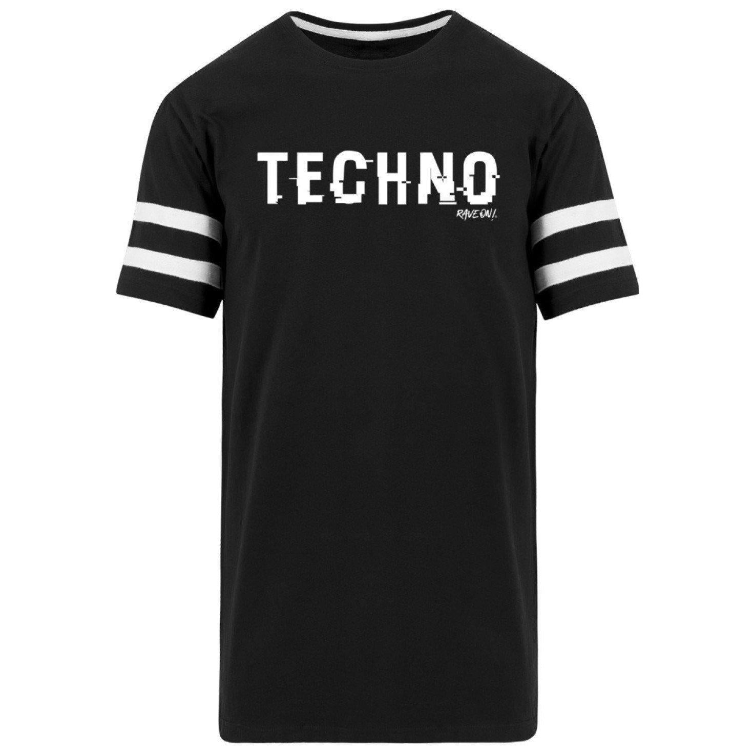 TECHNO shifted Rave On!® - Herren Striped Long Shirt Striped Long Shirt Schwarz / S - Rave On!® der Club & Techno Szene Shop für Coole Junge Mode Streetwear Style & Fashion Outfits + Sexy Festival 420 Stuff