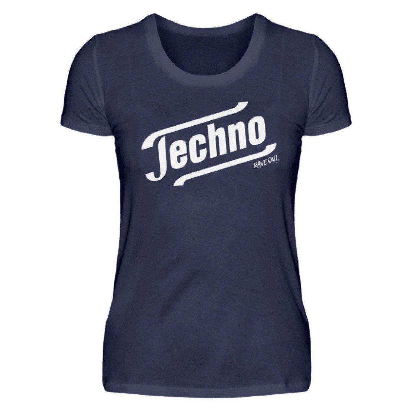 Techno - Tempo Rave On!® T-Shirt - Damenshirt-Damen Basic T-Shirt-Dunkel-Blau-S-Rave-On! I www.rave-on.shop I Deine Rave & Techno Szene Shop I apparel, brand, Design - Techno - Tempo Rave On!® T-Shirt, font, Funny, i heart raves, meme, music, on, On!®, rave, rave apparel, rave clothes, rave clothing, rave fashion, rave gear, rave on, Rave On!®, rave shop, rave t shirt, rave wear, raver, techno, techno apparel, Tempo, ® - Sexy Festival Streetwear , Clubwear & Raver Style