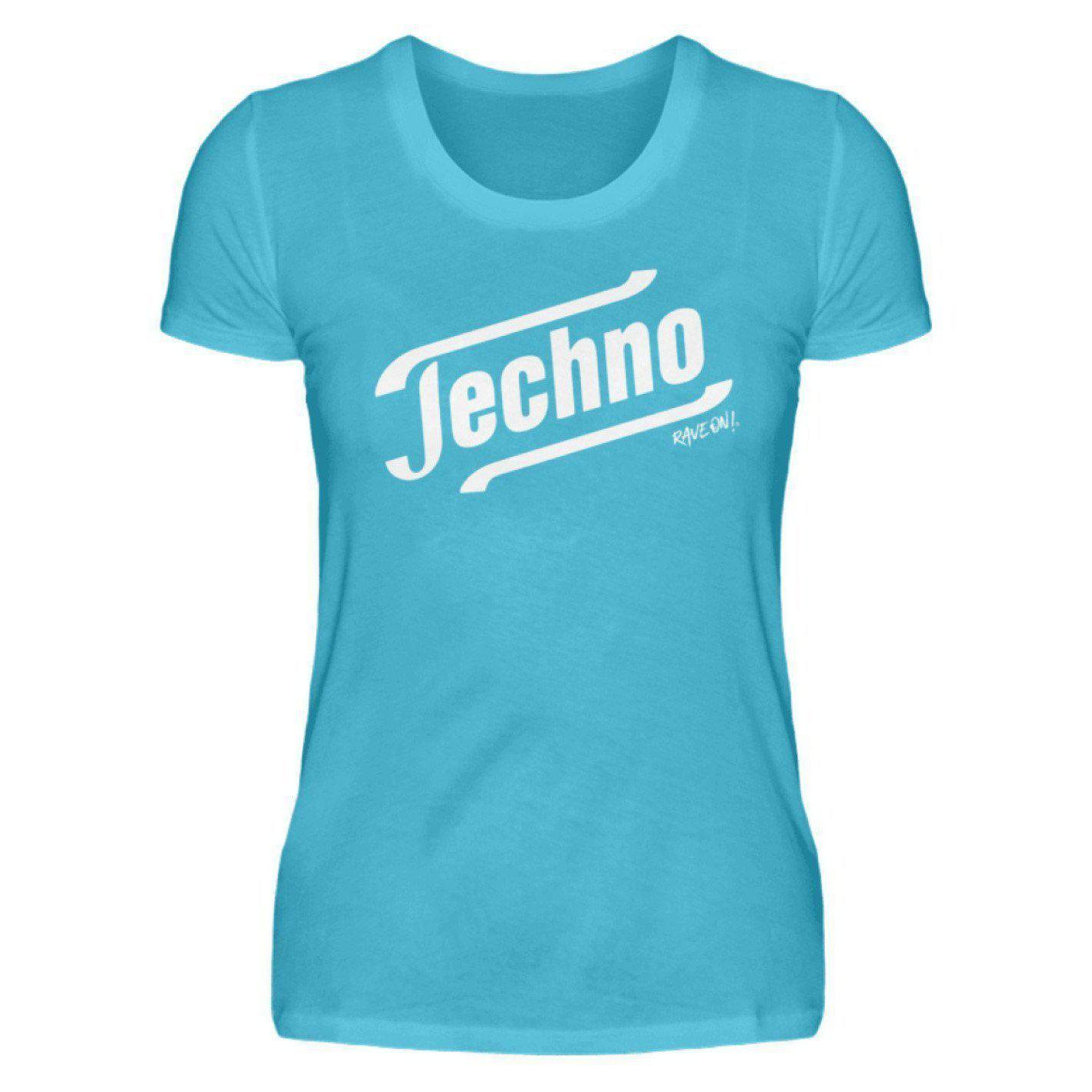 Techno - Tempo Rave On!® T-Shirt - Damenshirt-Damen Basic T-Shirt-Karibik Blau-S-Rave-On! I www.rave-on.shop I Deine Rave & Techno Szene Shop I apparel, brand, Design - Techno - Tempo Rave On!® T-Shirt, font, Funny, i heart raves, meme, music, on, On!®, rave, rave apparel, rave clothes, rave clothing, rave fashion, rave gear, rave on, Rave On!®, rave shop, rave t shirt, rave wear, raver, techno, techno apparel, Tempo, ® - Sexy Festival Streetwear , Clubwear & Raver Style