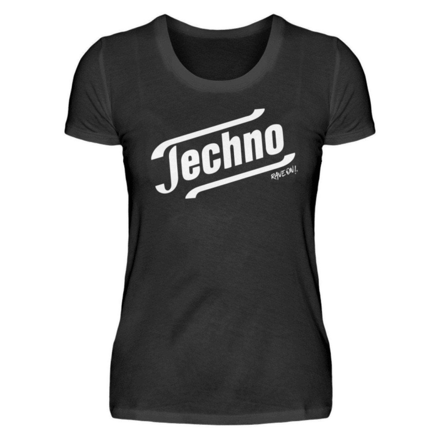 Techno - Tempo Rave On!® T-Shirt - Damenshirt-Damen Basic T-Shirt-Schwarz-S-Rave-On! I www.rave-on.shop I Deine Rave & Techno Szene Shop I apparel, brand, Design - Techno - Tempo Rave On!® T-Shirt, font, Funny, i heart raves, meme, music, on, On!®, rave, rave apparel, rave clothes, rave clothing, rave fashion, rave gear, rave on, Rave On!®, rave shop, rave t shirt, rave wear, raver, techno, techno apparel, Tempo, ® - Sexy Festival Streetwear , Clubwear & Raver Style