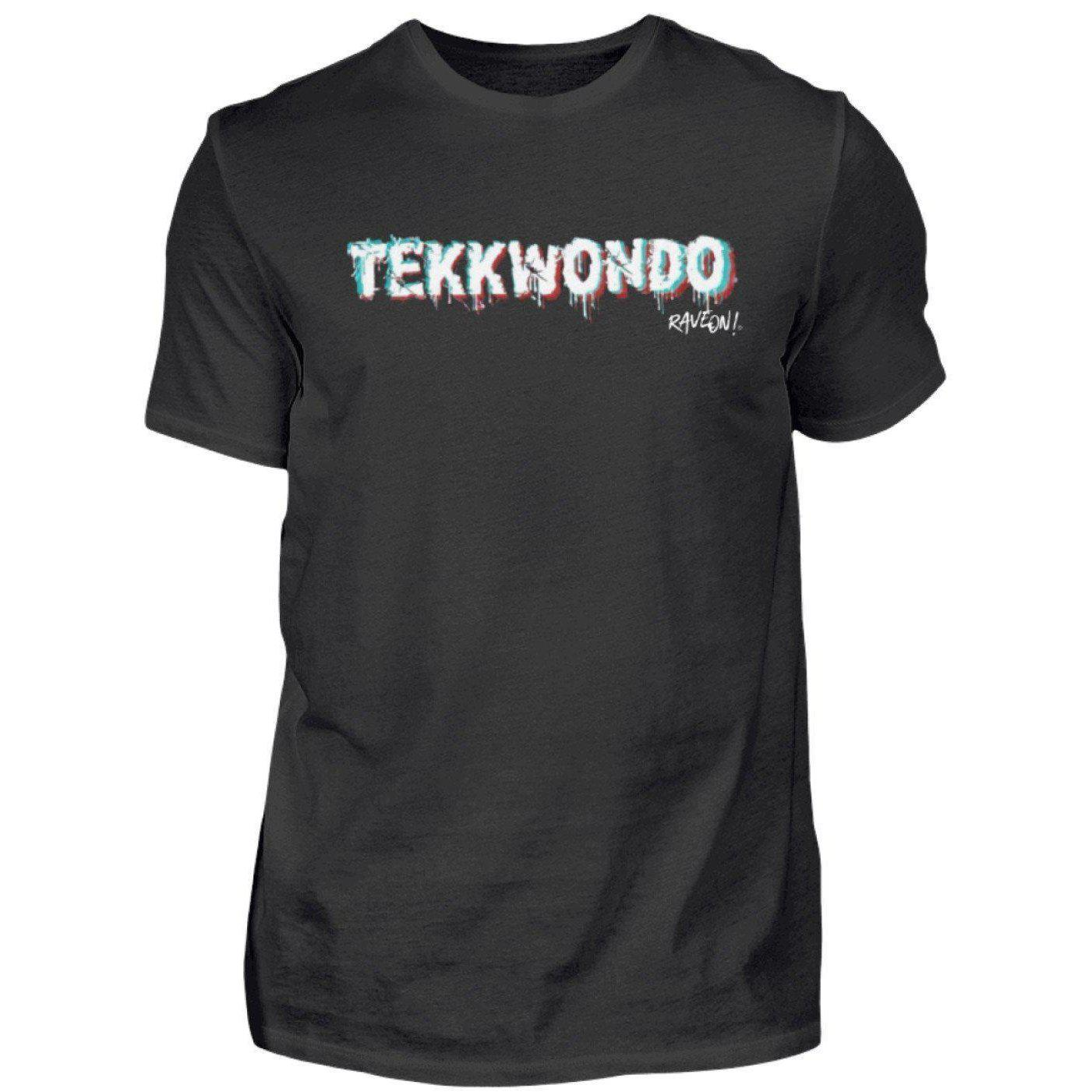 TEKKWONDO by Rave On!® - Men's Shirt Men's Basic T-Shirt Black / S - Rave On!® the club & techno scene shop for cool young fashion streetwear style & fashion outfits + sexy festival 420 stuff