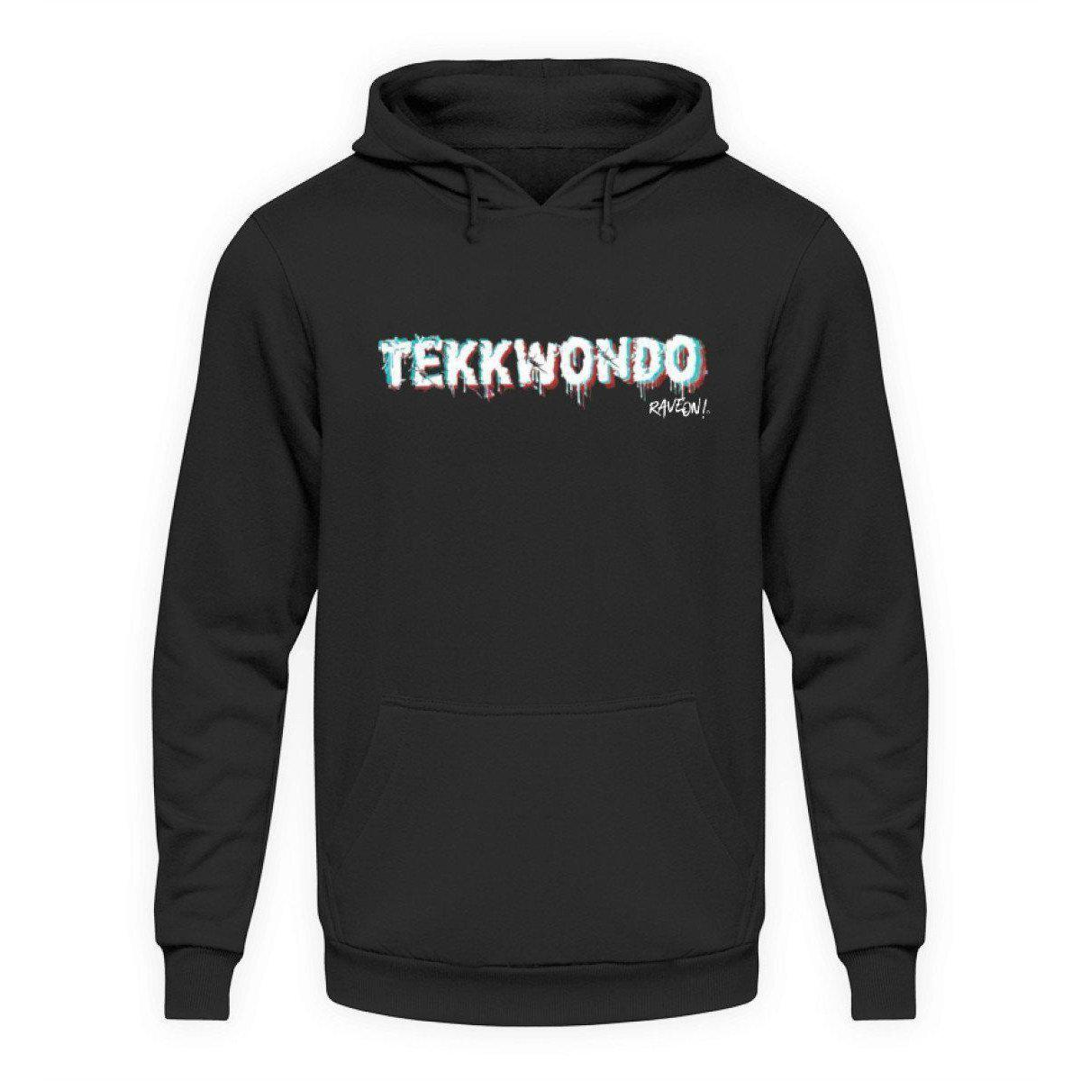 TEKKWONDO by Rave On!® - Unisex Kapuzenpullover Hoodie Unisex Hoodie Jet Black / L - Rave On!® der Club & Techno Szene Shop für Coole Junge Mode Streetwear Style & Fashion Outfits + Sexy Festival 420 Stuff