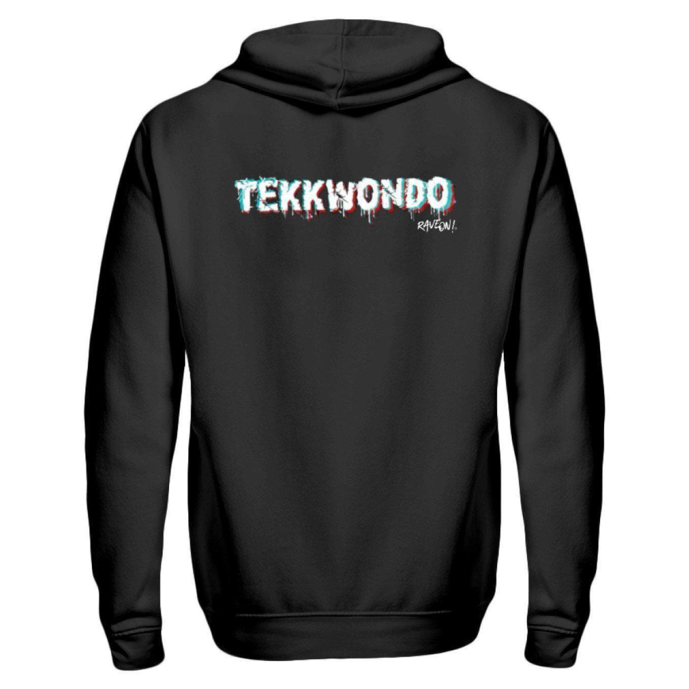 TEKKWONDO by Rave On!® - Zip-Hoodie ZipperB Schwarz / S - Rave On!® der Club & Techno Szene Shop für Coole Junge Mode Streetwear Style & Fashion Outfits + Sexy Festival 420 Stuff