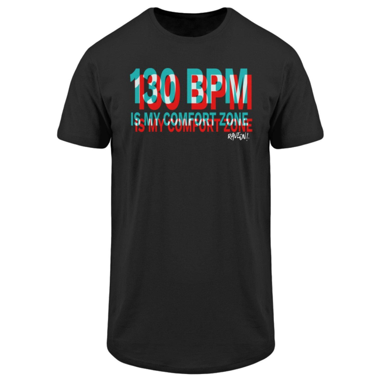 130 BPM - Rave On!® - Herren Long Tee Men Long Tee Black / S - Rave On!® der Club & Techno Szene Shop für Coole Junge Mode Streetwear Style & Fashion Outfits + Sexy Festival 420 Stuff