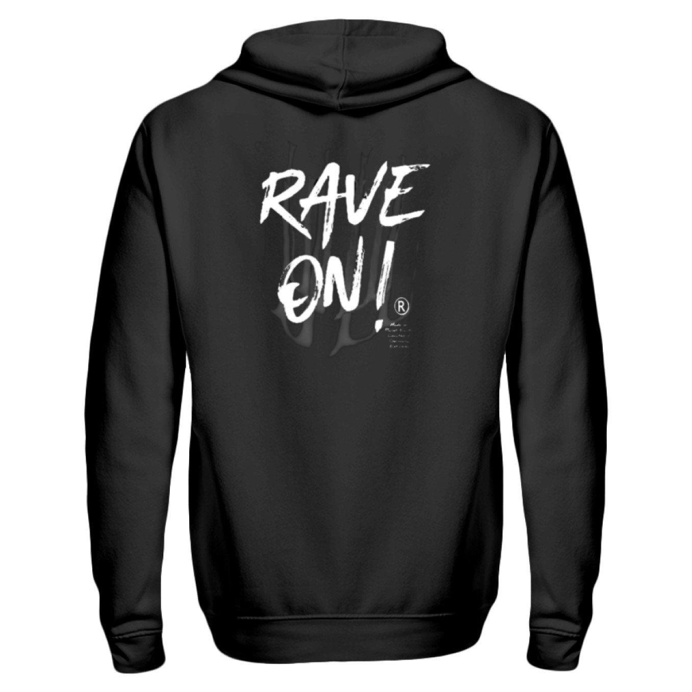 Rave On!® - Made On Planet Earth B2k20 - Zip-Hoodie ZipperB Black / S - Rave On!® der Club & Techno Szene Shop für Coole Junge Mode Streetwear Style & Fashion Outfits + Sexy Festival 420 Stuff