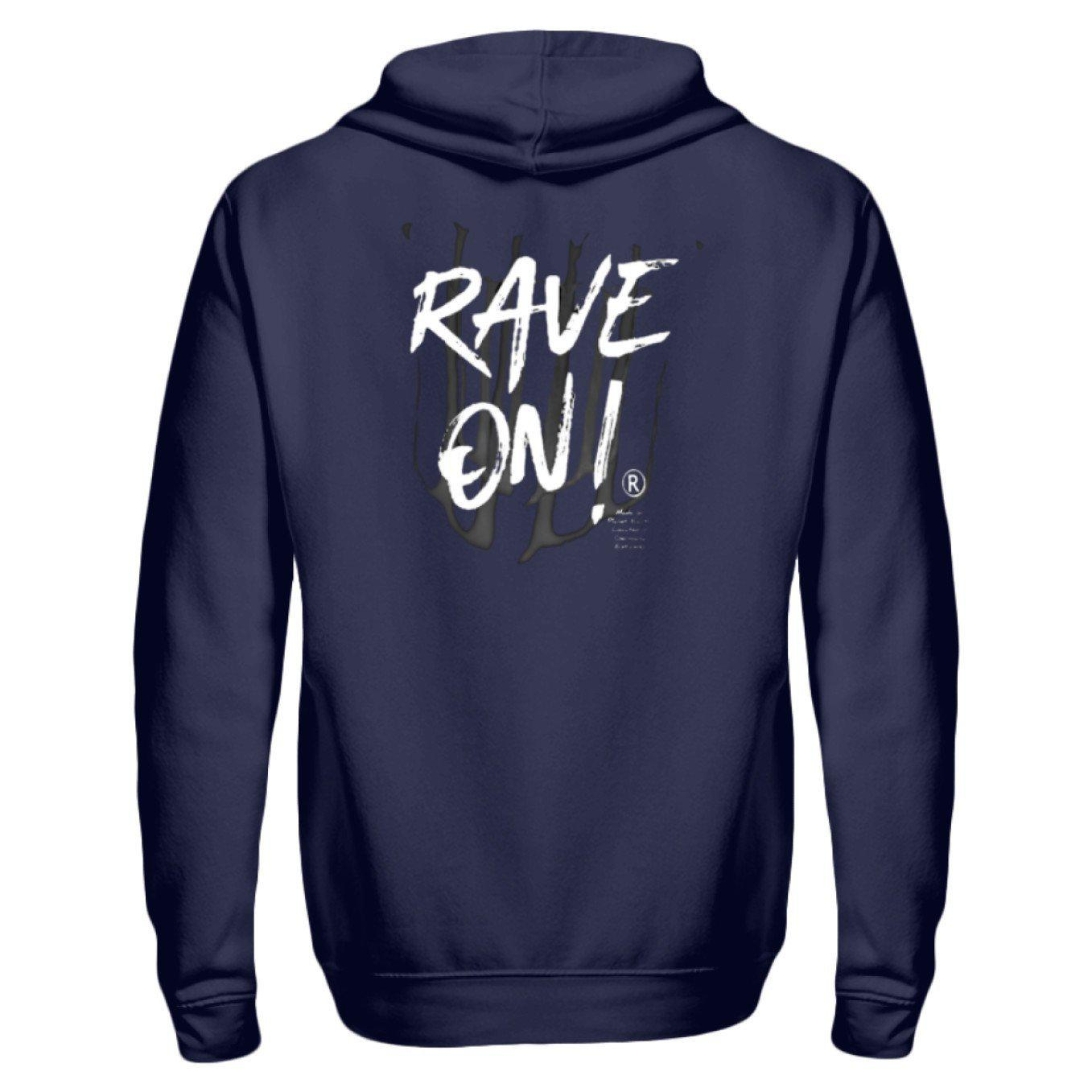 Rave On!® - Made On Planet Earth B2k20 - Zip-Hoodie ZipperB Navy / S - Rave On!® der Club & Techno Szene Shop für Coole Junge Mode Streetwear Style & Fashion Outfits + Sexy Festival 420 Stuff