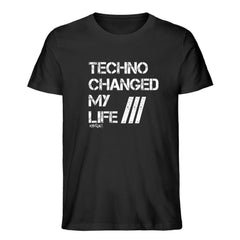 Techno Changed  my Life - Rave On!®  - Herren Premium Organic Shirt