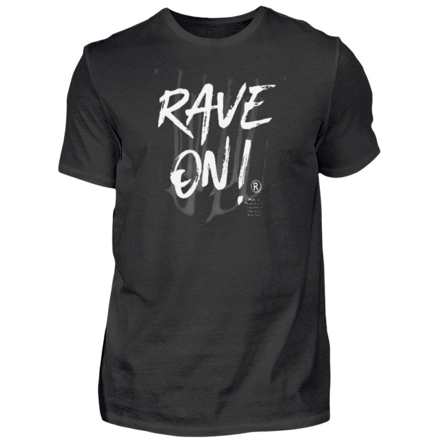 Rave On!® - Made On Planet Earth B2k20 - Herren Premiumshirt Herren Premium Shirt Black / S - Rave On!® der Club & Techno Szene Shop für Coole Junge Mode Streetwear Style & Fashion Outfits + Sexy Festival 420 Stuff