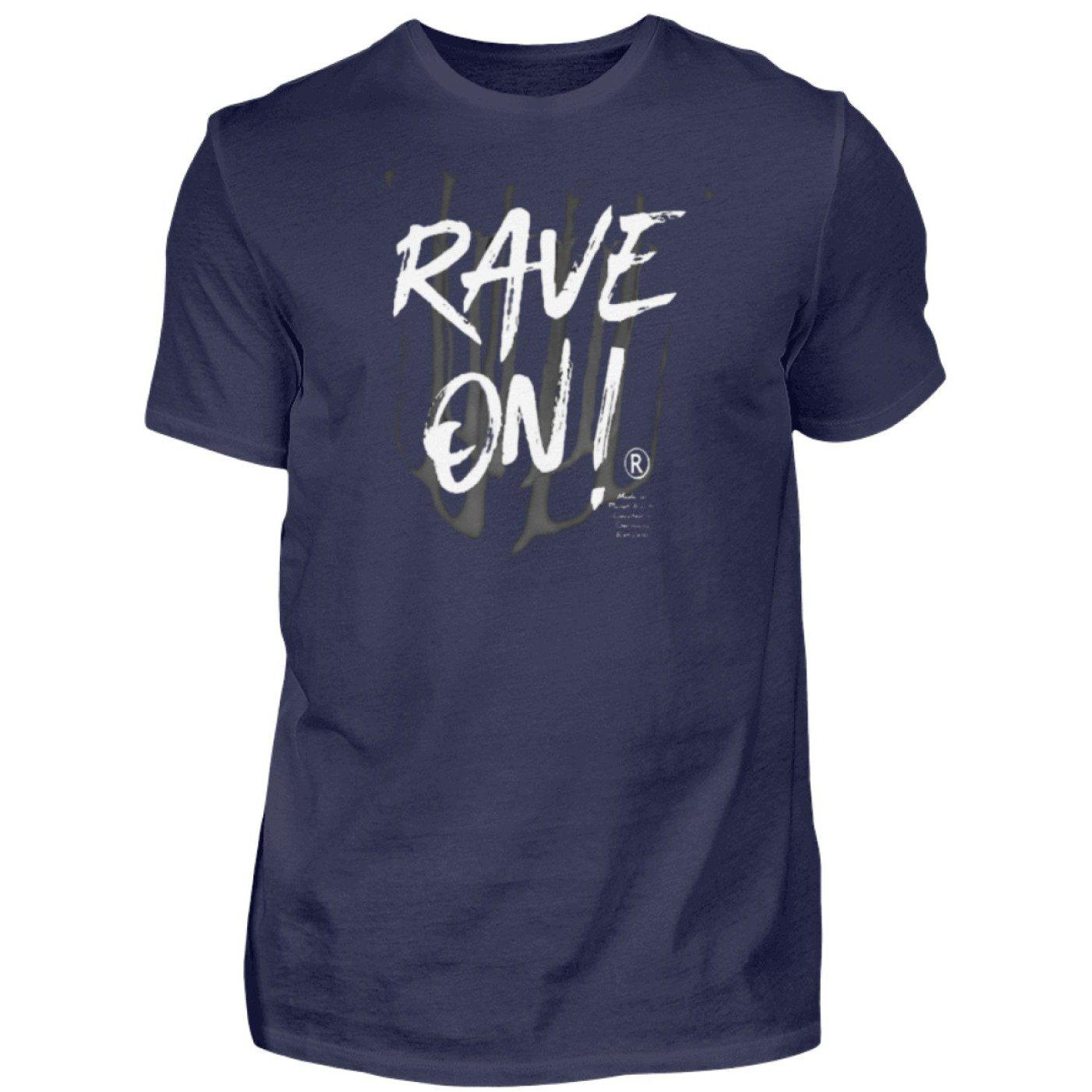 Rave On!® - Made On Planet Earth B2k20 - Herren Premiumshirt Herren Premium Shirt Navy / S - Rave On!® der Club & Techno Szene Shop für Coole Junge Mode Streetwear Style & Fashion Outfits + Sexy Festival 420 Stuff