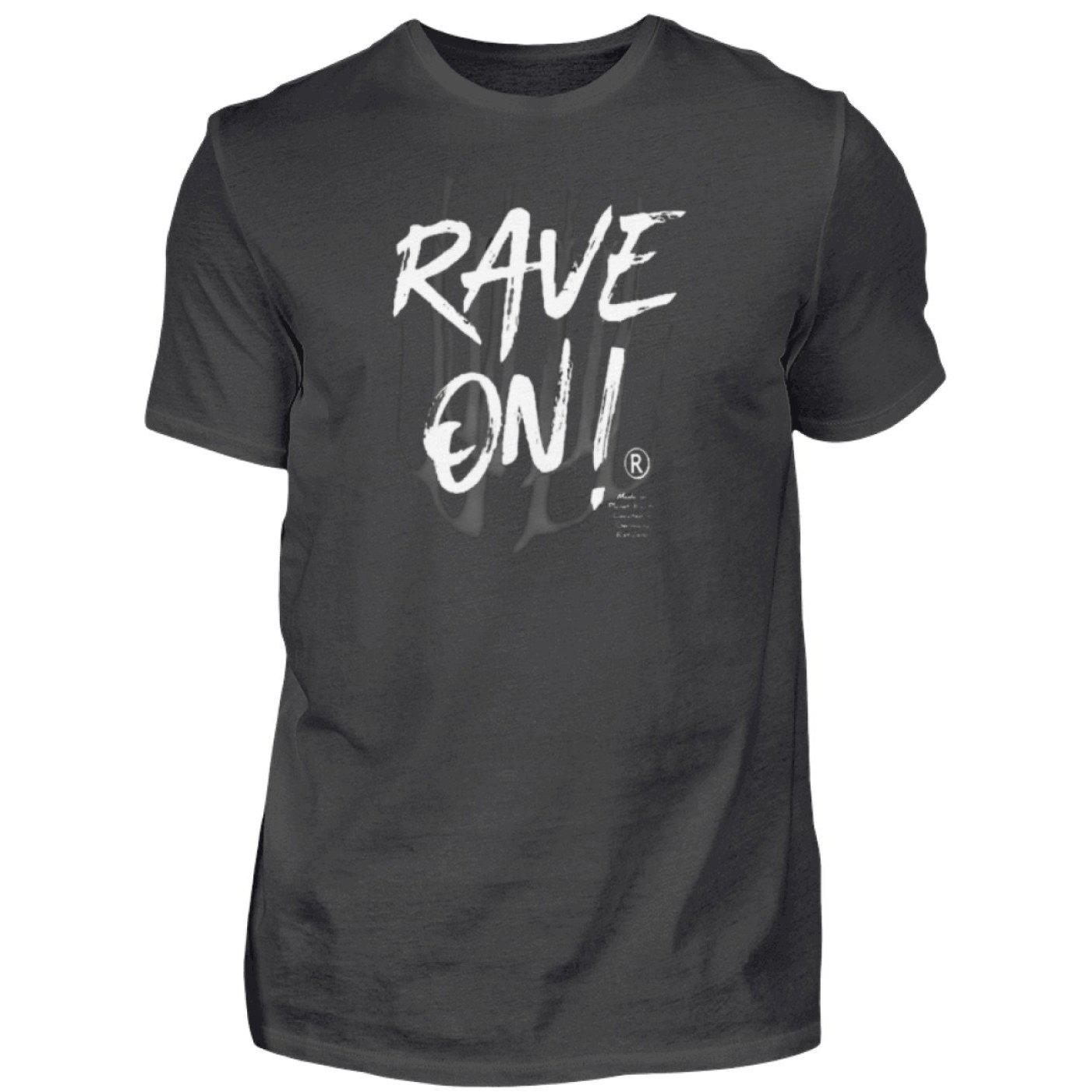 Rave On!® - Made On Planet Earth B2k20 - Herren Premiumshirt-Herren Premium Shirt-Graphite (Solid)-S-Rave-On! I www.rave-on.shop I Deine Rave & Techno Szene Shop I brand, Design - Rave On!® - Made On Planet Earth B2k20, Global recommendation, madeonpr, marke, on, rave, raver, techno - Sexy Festival Streetwear , Clubwear & Raver Style
