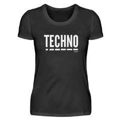 Techno Music - Rave On!®  - Damenshirt