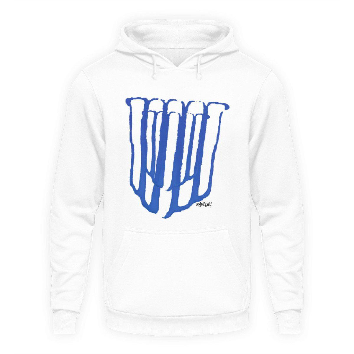 Rave On!® - Made On Blue 2k20 - Unisex Kapuzenpullover Hoodie Unisex Hoodie Arctic White / L - Rave On!® der Club & Techno Szene Shop für Coole Junge Mode Streetwear Style & Fashion Outfits + Sexy Festival 420 Stuff