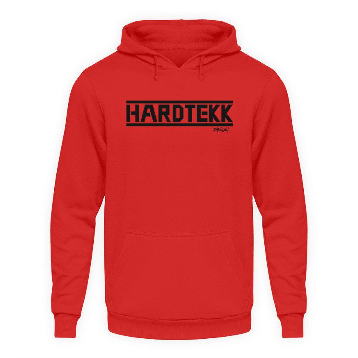 HARDTEKK white - Rave On!® - Unisex Kapuzenpullover Hoodie Unisex Hoodie Fire Red / L - Rave On!® der Club & Techno Szene Shop für Coole Junge Mode Streetwear Style & Fashion Outfits + Sexy Festival 420 Stuff