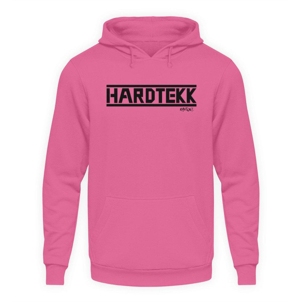 HARDTEKK white - Rave On!® - Unisex Kapuzenpullover Hoodie Unisex Hoodie Candyfloss Pink / L - Rave On!® der Club & Techno Szene Shop für Coole Junge Mode Streetwear Style & Fashion Outfits + Sexy Festival 420 Stuff