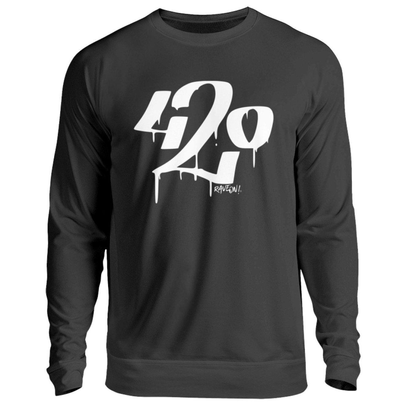 Graffiti 420 - Rave On!® - Unisex Pullover Unisex Sweatshirt Jet Black / S - Rave On!® der Club & Techno Szene Shop für Coole Junge Mode Streetwear Style & Fashion Outfits + Sexy Festival 420 Stuff