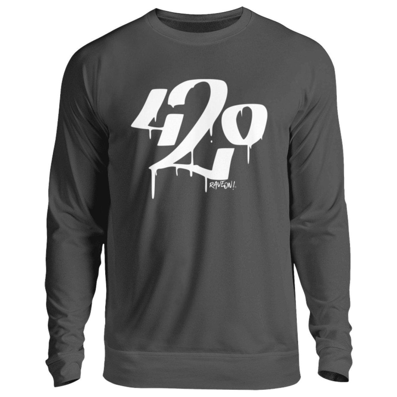 Graffiti 420 - Rave On!® - Unisex Pullover Unisex Sweatshirt Storm Grey (Solid) / S - Rave On!® der Club & Techno Szene Shop für Coole Junge Mode Streetwear Style & Fashion Outfits + Sexy Festival 420 Stuff