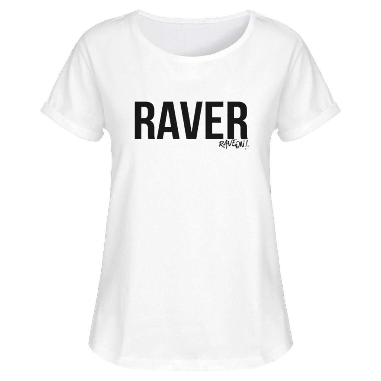 "Stylisches Rave On!® ""Raver"" Shirt w - Damen RollUp Shirt-Women Rollup Shirt-White-S-Rave-On! I www.rave-on.shop I Deine Rave & Techno Szene Shop I Design - Stylisches Rave On!® ""Raver"" Shirt w, rave, raver, techno - Sexy Festival Streetwear , Clubwear & Raver Style"