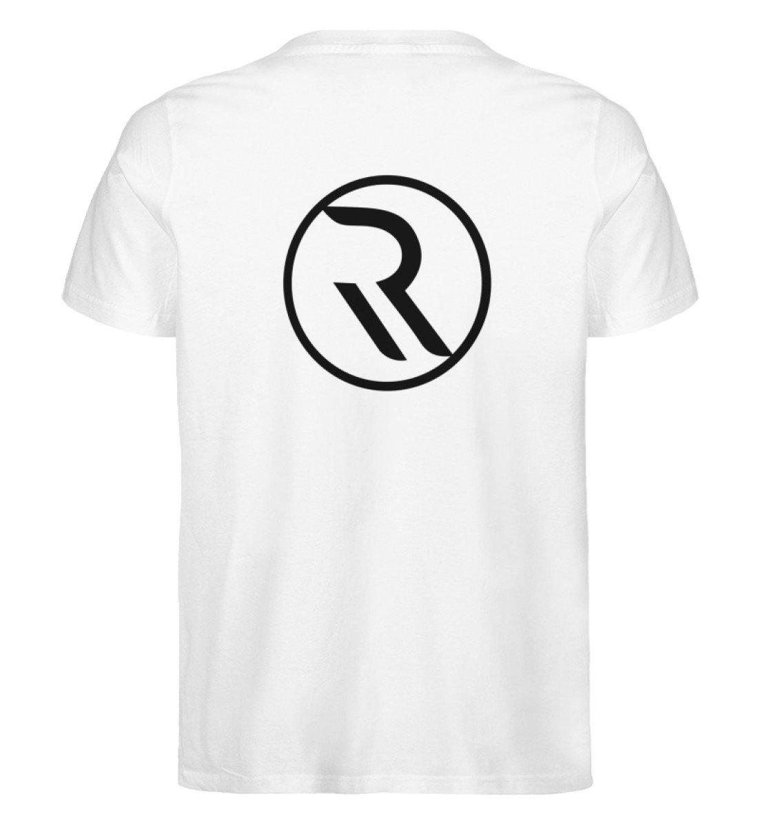 ROPEMAKER RAVE-ON!®️ WHITE T-SHIRT - Herren Premium Organic Shirt Creator T-Shirt ST/ST White / S - Rave On!® der Club & Techno Szene Shop für Coole Junge Mode Streetwear Style & Fashion Outfits + Sexy Festival 420 Stuff