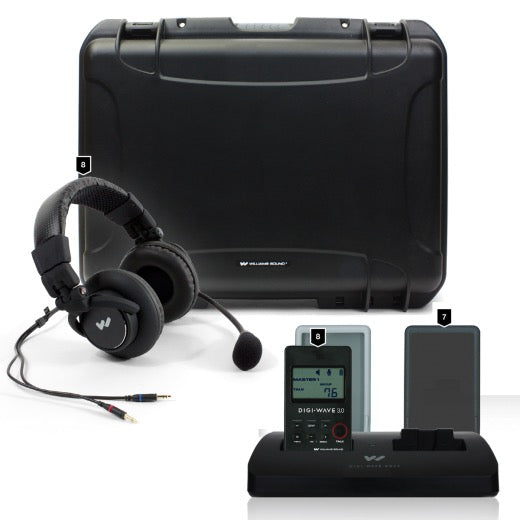Digi-Wave 300 Series Wireless Intercom System for up to Eight Participants