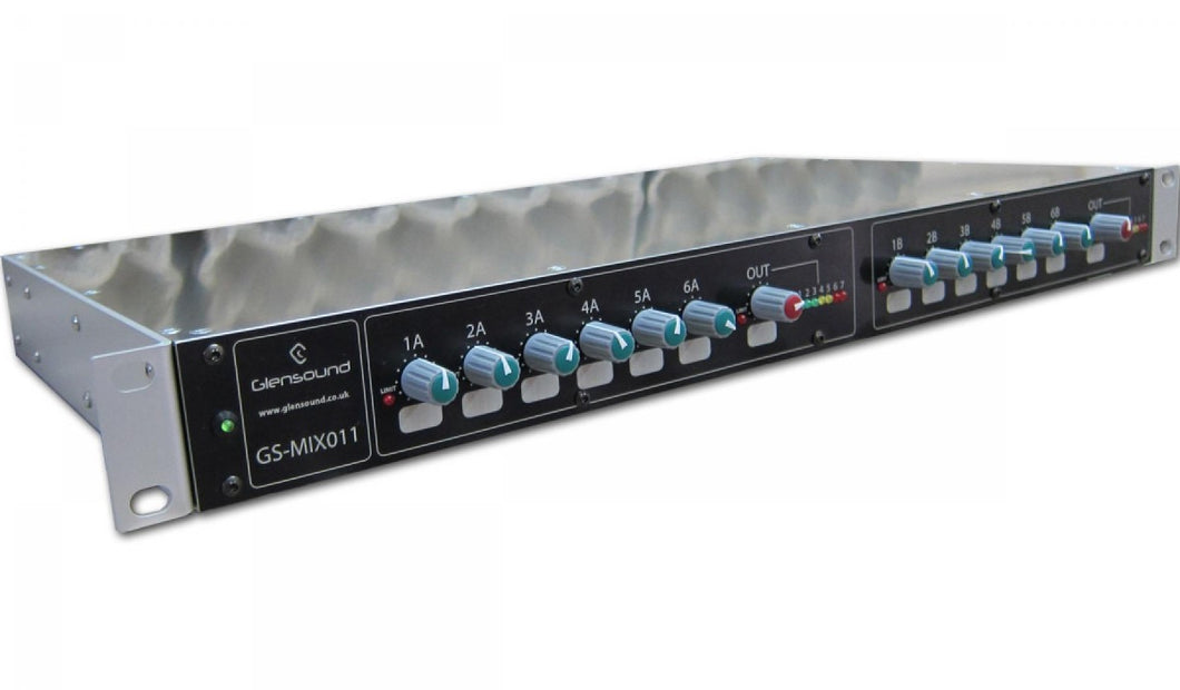 GS-MIX011 - 2 x 6 Input Mixers with Limiters