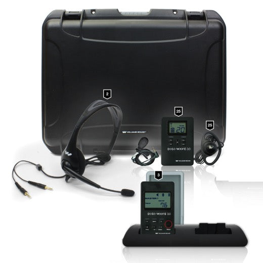 Series Wireless Intercom System for up to Four Participants