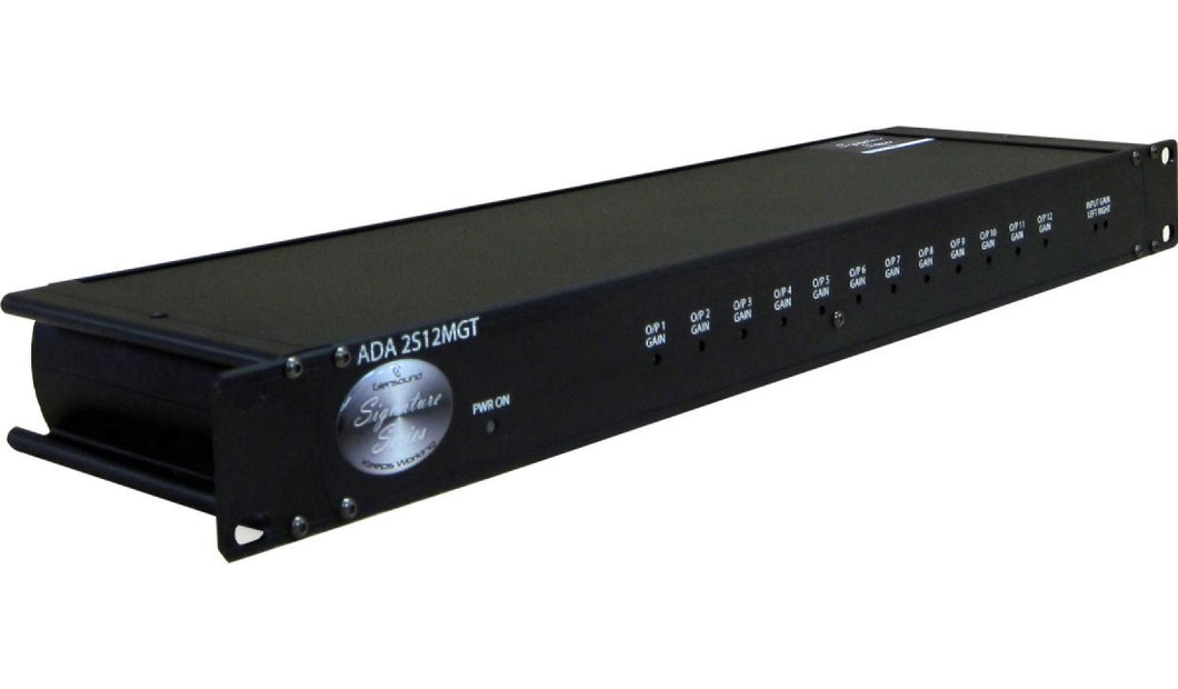 ADA 2S12 MGT - 1 Stereo In, 12 Monmo Outputs Transformer Isolated Distribution amp