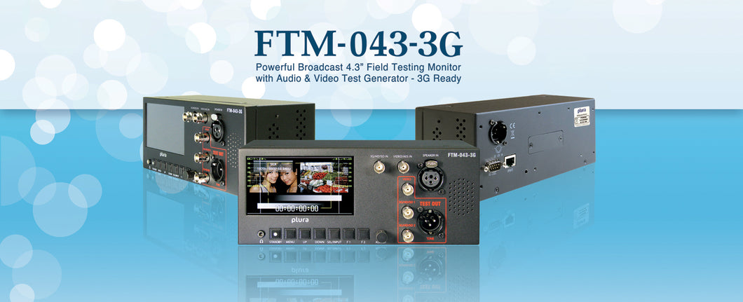 "FTM-043-3G 4.3"" Broadcast Monitoring Station"