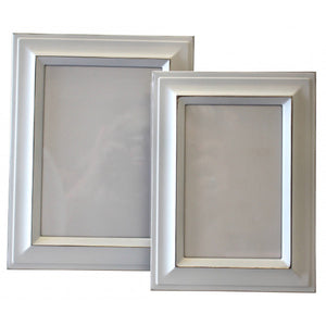 White w/Silver Photo Frame