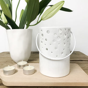 Dot Candleholder White
