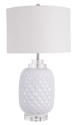 Island White Table Lamp
